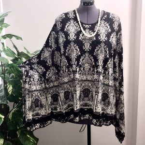Step in Style Printed Semi Sheer Shimmery Top